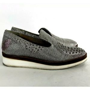 Free People Snake Eyes slip on loafers shoes 38 8